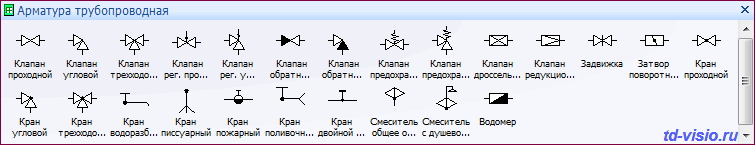 Фигуры Visio - Арматура трубопроводная.