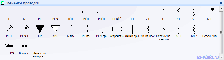for Visio - Питающая сеть
